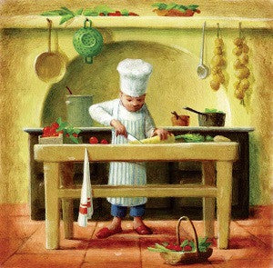 FOOD PREP BY Peter Seal-Art Print-Style Home Art