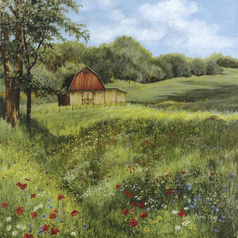 FLOWER FIELD BY Lene Alston Casey-Art Print-Style Home Art