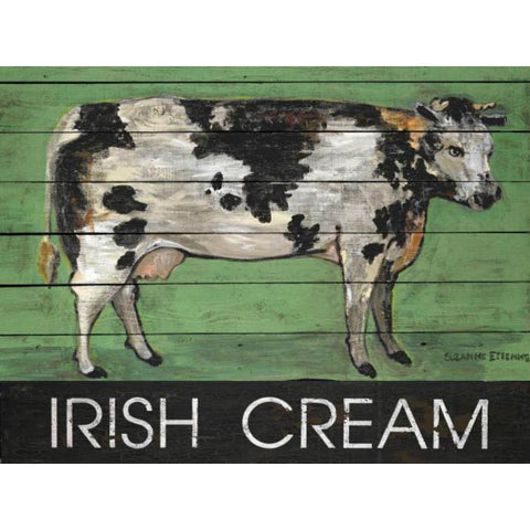 IRISH CREAM COW By Suzanne Etienne-Art Print-Style Home Art