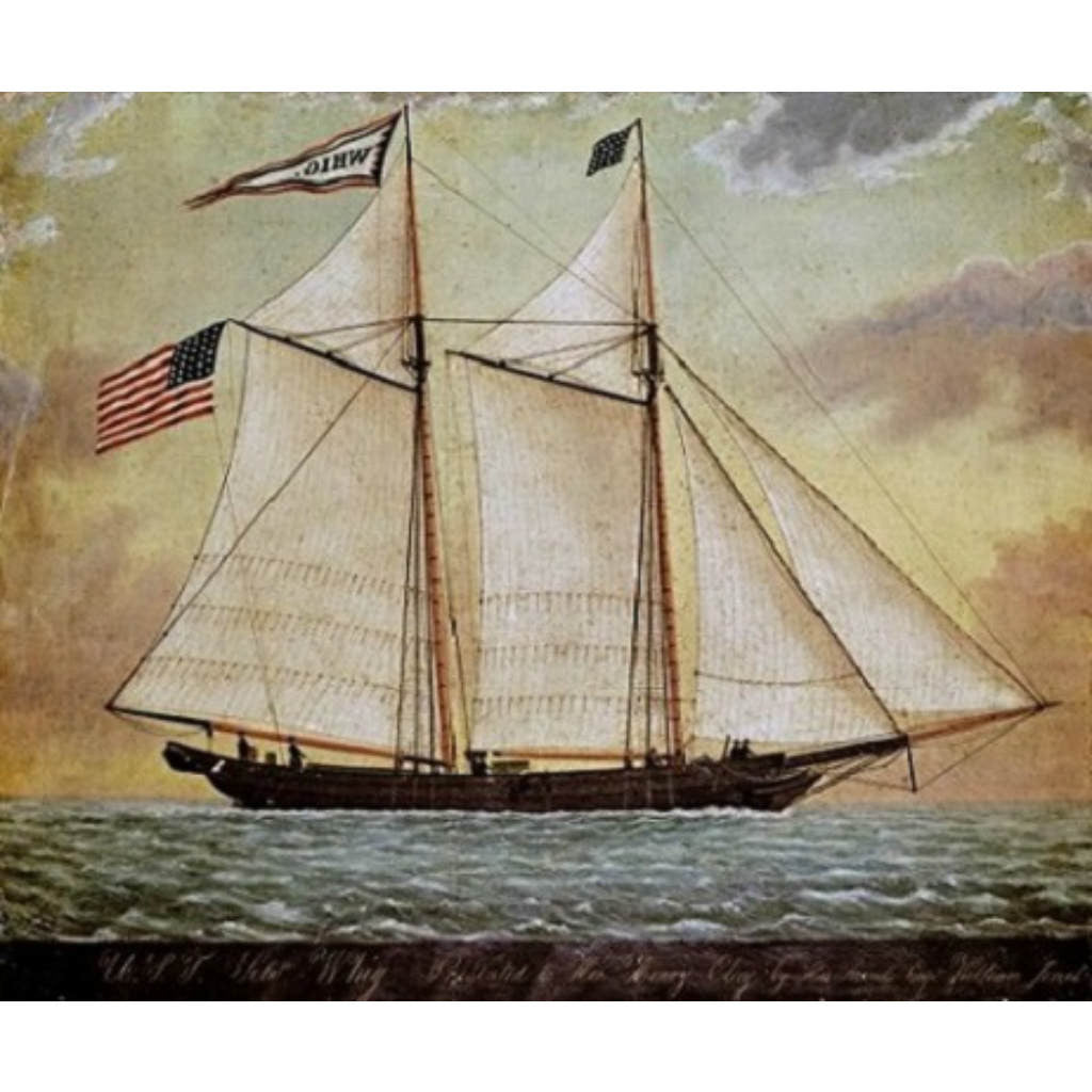 THE SCHOONER WHIG By The American School-Art Print-Style Home Art