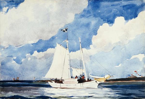 FISHING SCHOONER By Homer Winslow-Art Print-Style Home Art