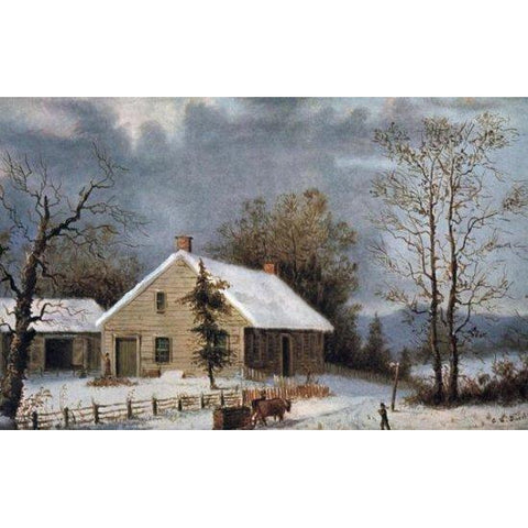 WINTER WOOD BY Currier and Ives