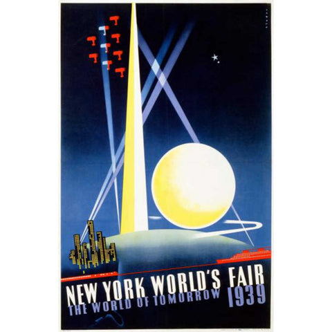 NEW YORK WORLD'S FAIR, 1939 By Joseph Binder-Art Print-Style Home Art