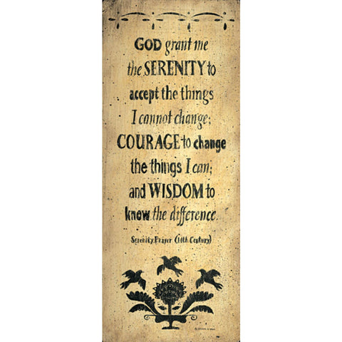 THE SERENITY PRAYER By Donna Atkins-Art Print-Style Home Art