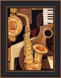 Abstract saxophone art print