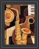 ABSTRACT SAX By Paul Brent-Style Home Art