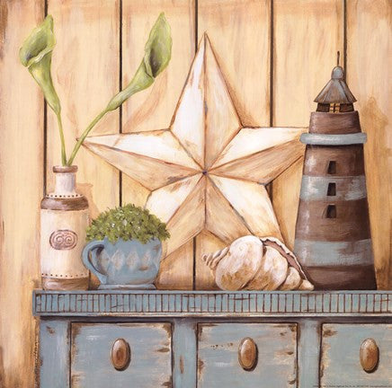 COASTAL CUPBOARD By Jo Moulton-Art Print-Style Home Art