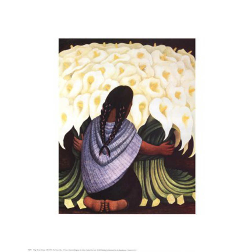 THE FLOWER SELLER By Diego Rivera-Art Print-Style Home Art