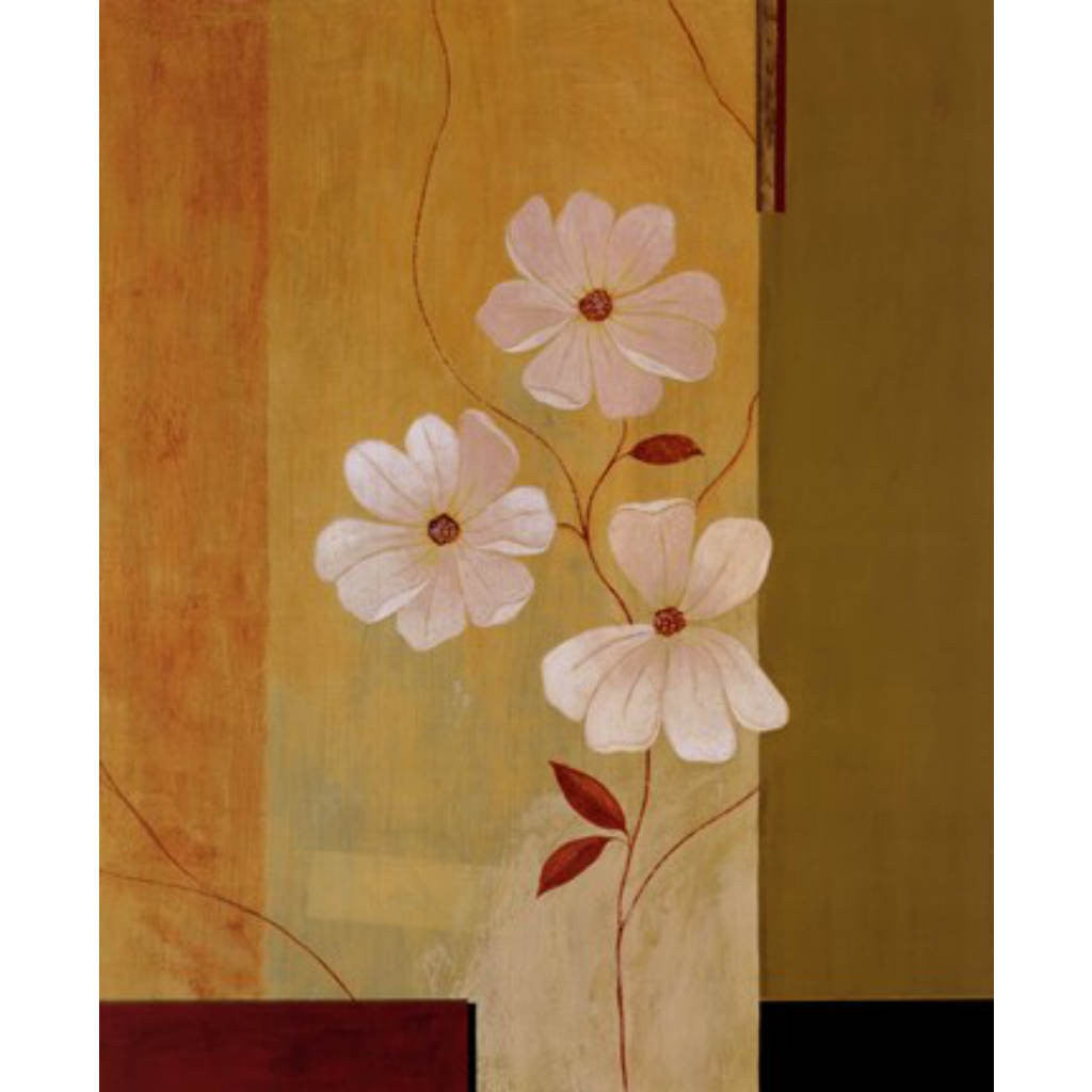 THREE WHITE FLOWERS By Fernando Leal-Art Prints-Style Home Art