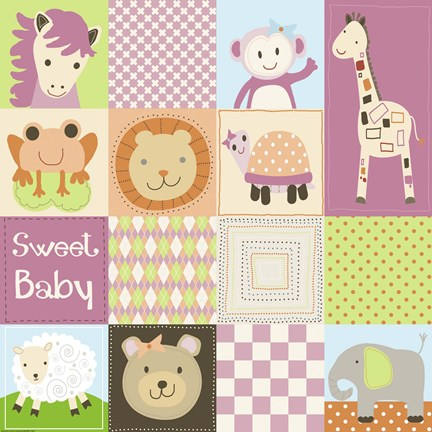 BABY GIRL ANIMAL QUILT By Jennifer Nilsson