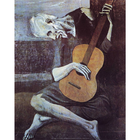 THE OLD GUITARIST By Pablo Picasso-Art Print-Style Home Art