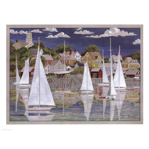 CAPTAIN'S HARBOR By Paul Brent-Art Print-Style Home Art