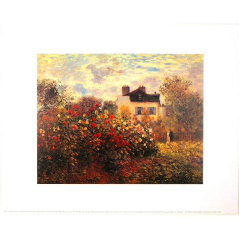 THE ARTIST'S GARDEN AT ARGENTEUIL By Claude Monet-Art Print-Style Home Art