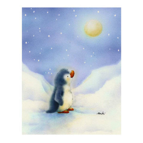 LITTLE PENGUIN By Makiko-Art Print-Style Home Art