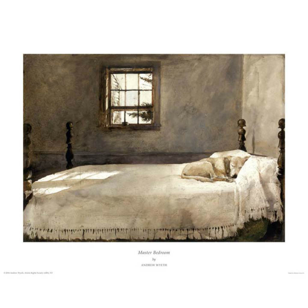 MASTER BEDROOM By Andrew Wyeth-Art Print-Style Home Art