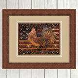 OLD GLORY ROOSTER By Susan Winget-Art Print-Style Home Art