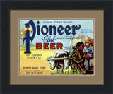 OLD PIONEER CLUB BEER (Vintage Beer Label Art)-Art Print-Style Home Art