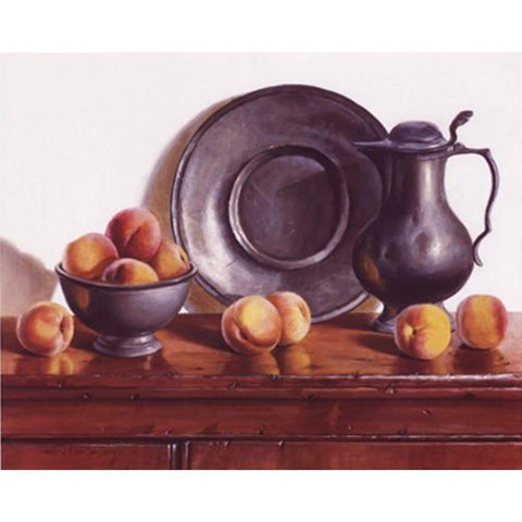 PEACHES & PEWTER By Pauline Eble Campanelli-Art Print-Style Home Art