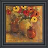 RED AND YELLOW POPPIES BY Lorrie Lane-Art Print-Style Home Art