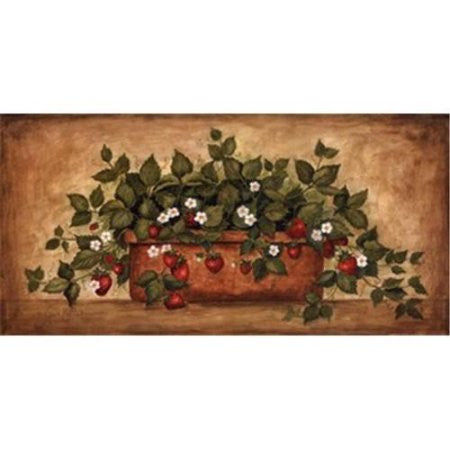 STRAWBERRY BLOSSOMS By Annie LaPoint-Art Print-Style Home Art