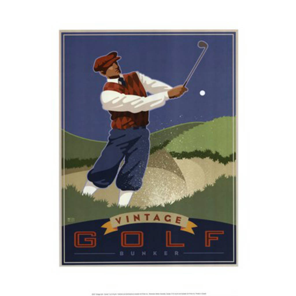 VINTAGE GOLF - BUNKER By Si Huynh-Art Print-Style Home Art