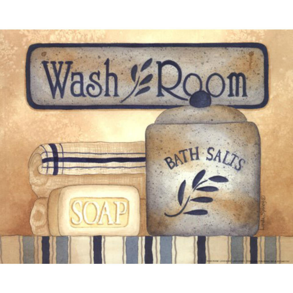 WASH ROOM BY Linda Spivey-Art Print-Style Home Art