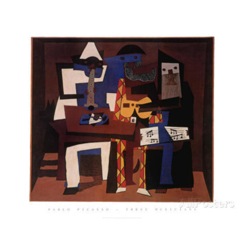THE THREE MUSICIANS BY Pablo Picasso-Art Print-Style Home Art