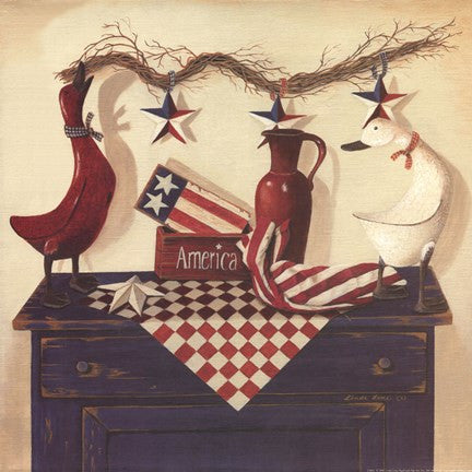 AMERICA By Linda Lane-Art Print-Style Home Art