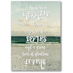 I Must Be a Mermaid Quote | Premium Art Canvas