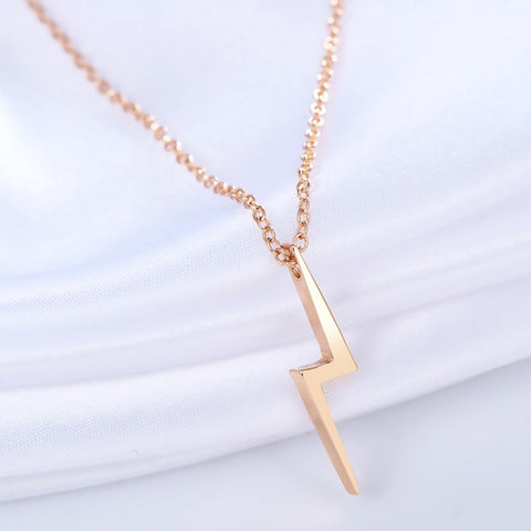 Favorite Wizard | Lightning Bolt 18K Necklace | Geek Chic