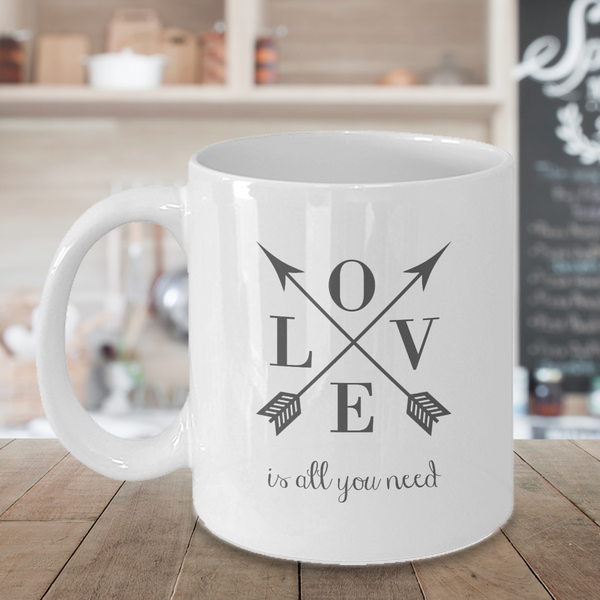 Love is All You Need | Retro Quote Mug
