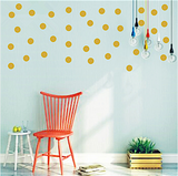 Silver or Gold Polka Dots Wall Decals, 2 sizes