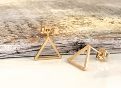 Minimal Open Triangle Earrings | Gold, Silver, Rose Gold