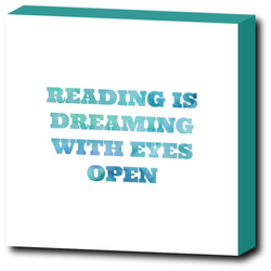 Art Prints - Reading Is Dreaming | Premium Canvas Gallery Wrap