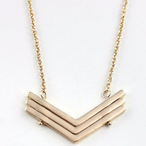 Chic Chevron Gold Necklace | Minimal