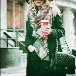 Scarves - Classic Plaid Triangle Scarf