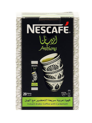 Nescafe Arabiana Instant Arabic Coffee with Cardamom - 20 x 3g (English/Arabic Packaging)