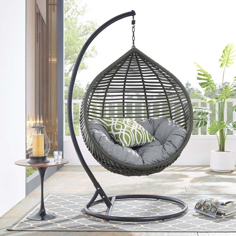 Teardrop Single Seating Outdoor / Indoor Hanging Egg Patio Chair -(Local Delivery or Pickup Only)