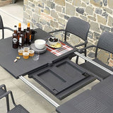 Nardi 9-piece Libeccio 88 in. x 40 in. Patio Dining Table with Bora Armchairs