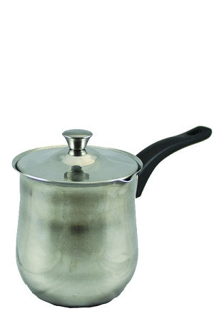 Turkish Coffee Pot, Stainless Steel with Lid