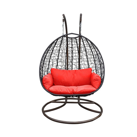 Double Seating Outdoor / Indoor Hanging Egg Patio Chair ** PICKUP ONLY **