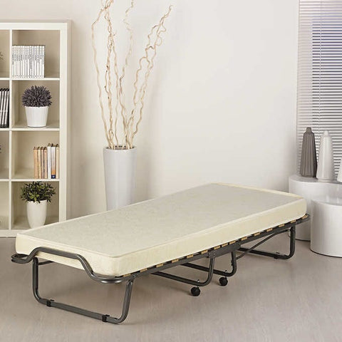 Veraflex LUXOR FL Cottage Folding and Rolling Bed with Memory Foam Mattress