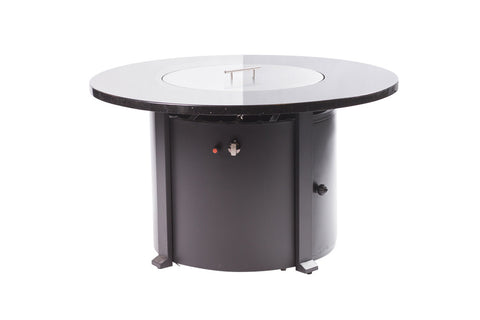 Enclover Granite Top Fire Table Outdoor Patio - 55,000 BTU - FREE Cover Included