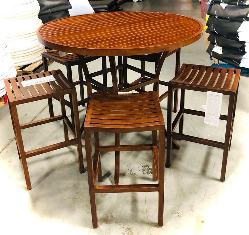 Cabana Coast 6pcs Monaco Patio Bar Set - Mahogmy