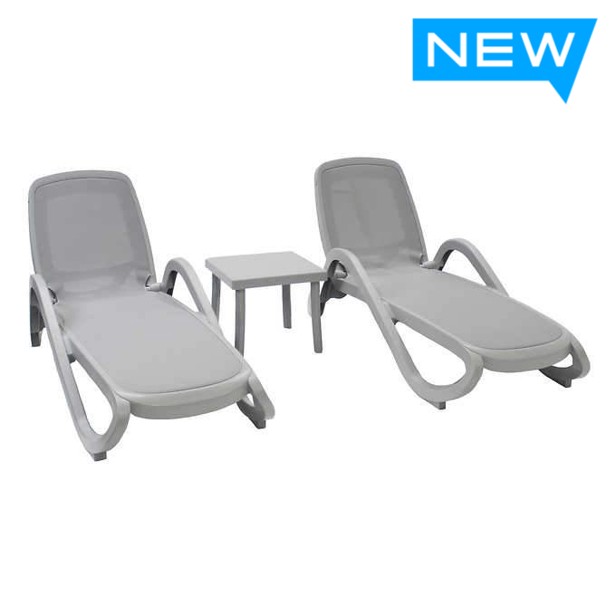 Nardi Alfa 3-piece Outdoor Patio Chaise Lounge Set