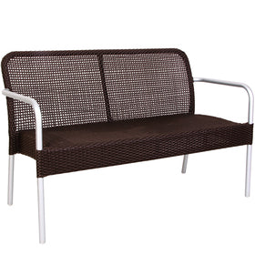 Emu Rita Patio Wicker Stackable Aluminum All Weather Bench