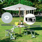 Folding Picnic Patio Table & Seats