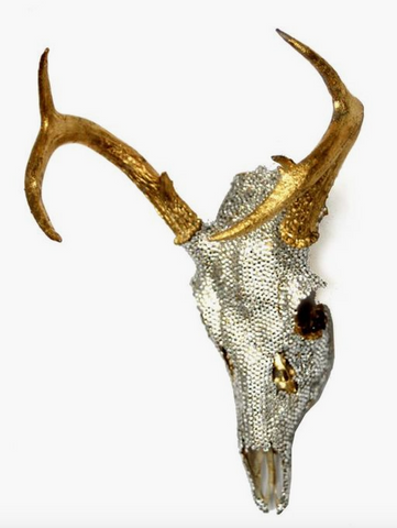 Gold and crystal encrusted Swarovski skull