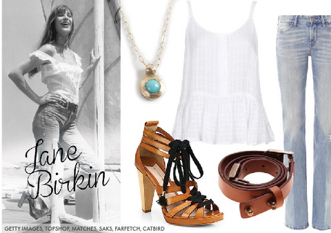How to put together Jane Birkins French girl boho jewellery style