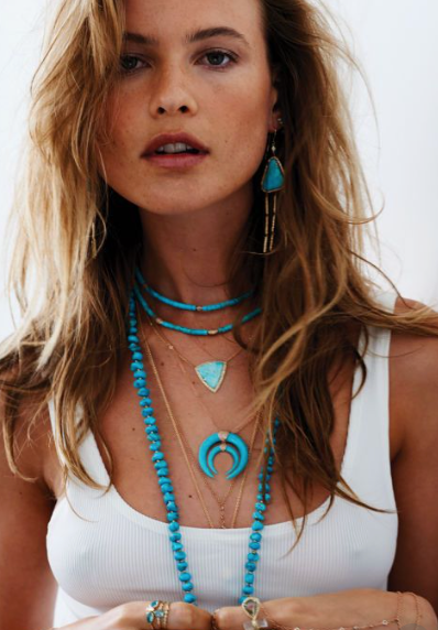 Turquoise necklaces - a boho turquoise pendant and necklace stack